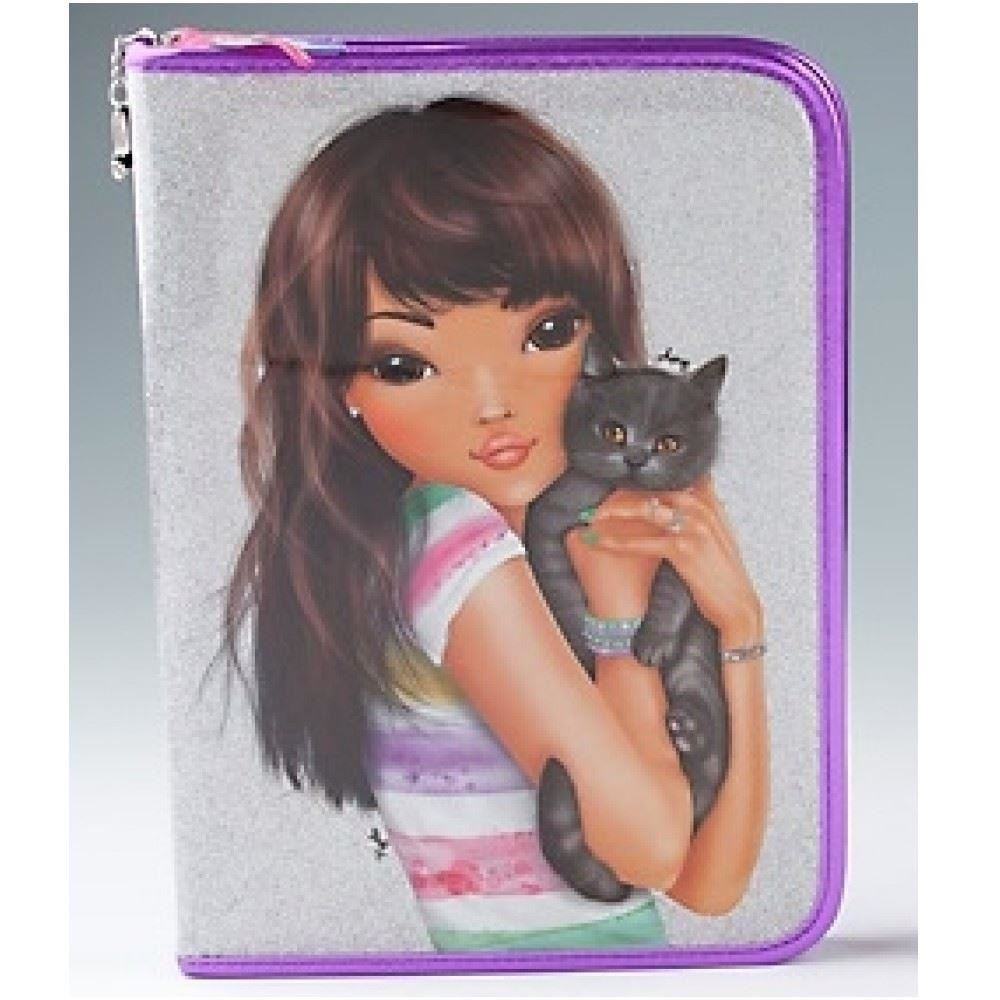 Pin topmodel filled pencil case de luxe by depesche in two designs
