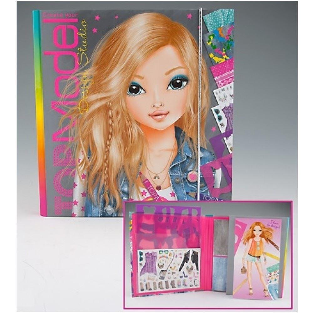 Top model colouring book design studio by depesche ebay for Top mobel
