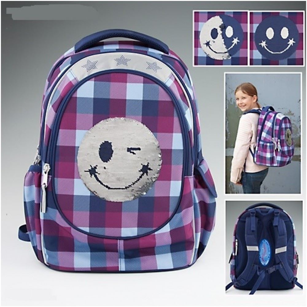 depesche topmodel school backpack smiley blue. Black Bedroom Furniture Sets. Home Design Ideas
