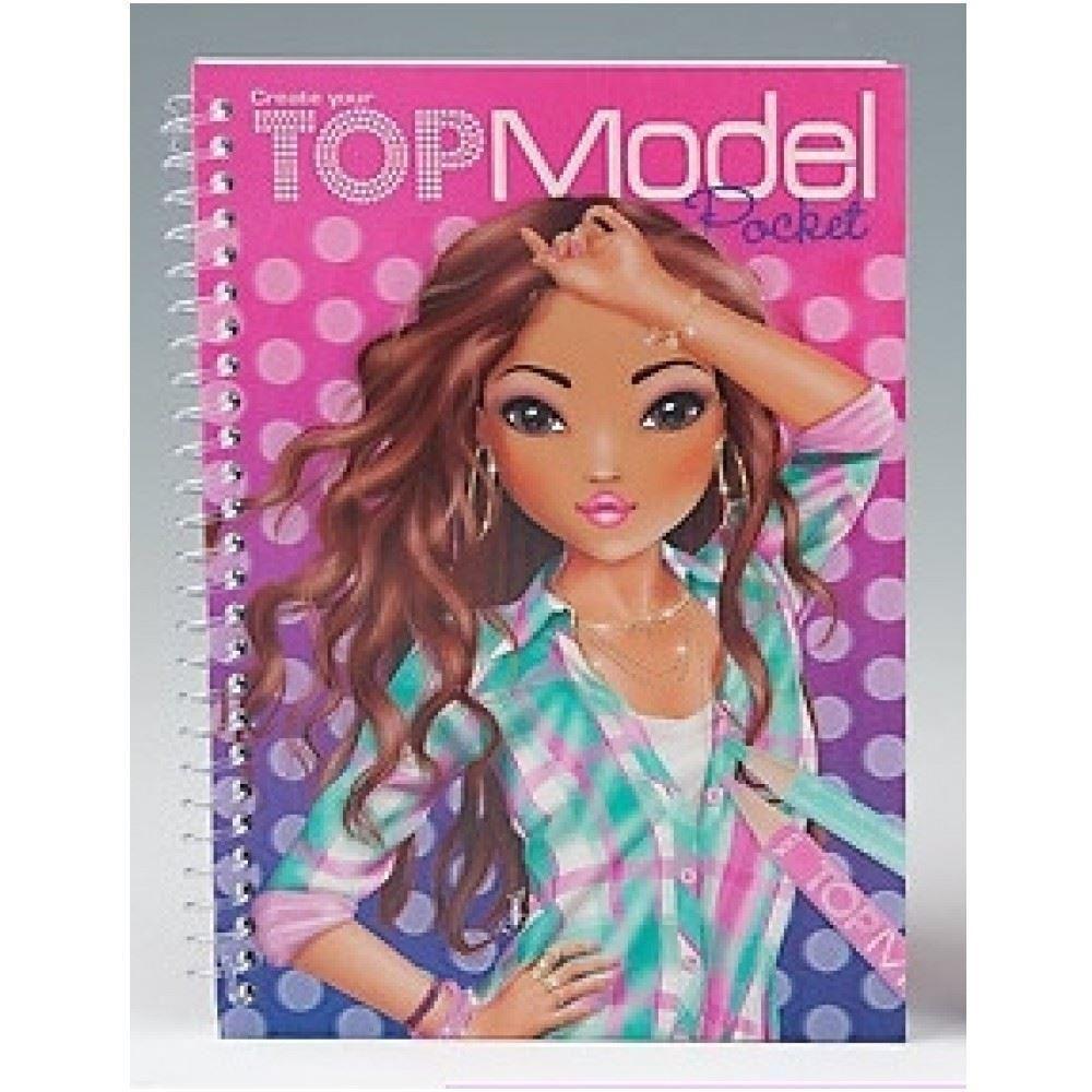 Top model pocket 3d livres de coloriage blonde ou cheveux rouge mod le - Top model livre de dessin ...
