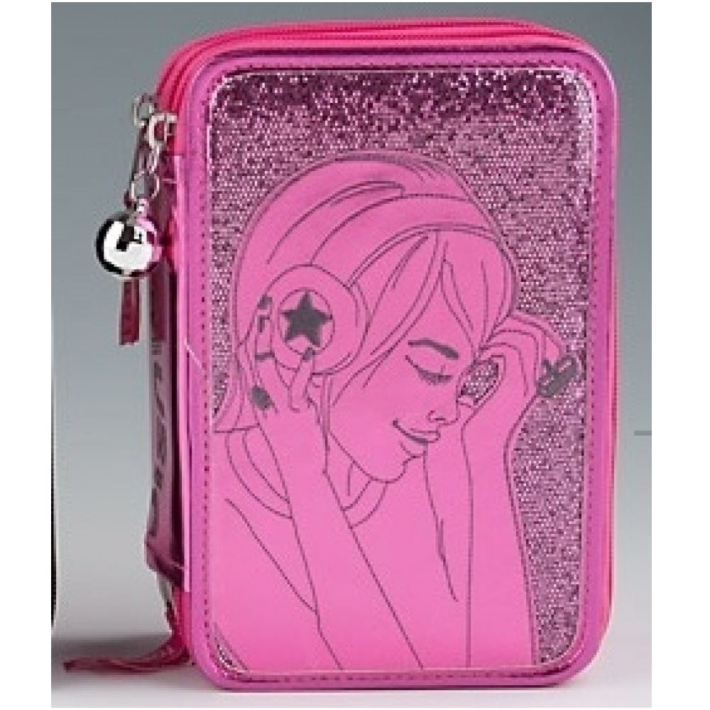 TOPModel Triple Filled Pencil Case Music