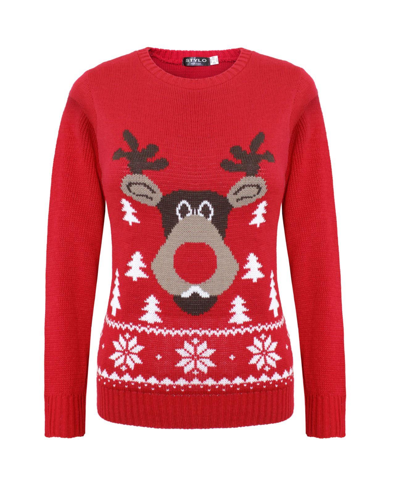 kids girls boy knitted reindeer xmas christmas jumper. Black Bedroom Furniture Sets. Home Design Ideas