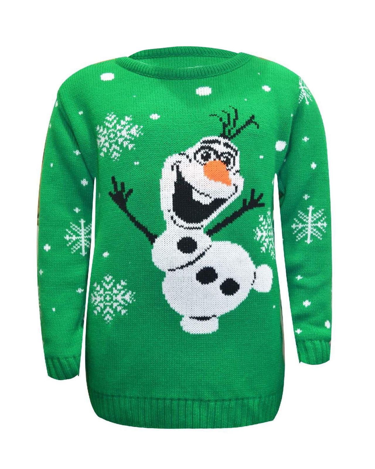 Kids Boy Girl Knitted Christmas Xmas Olaf Minion Chunky Knit Jumper Novelty T...