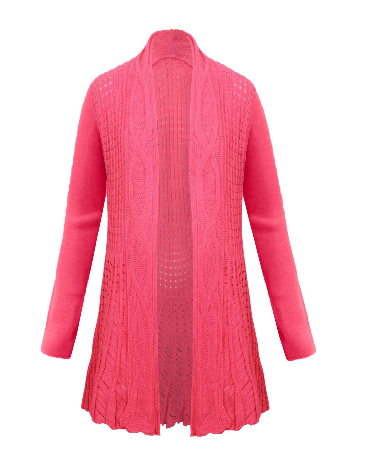 GRACE KARIN Essential Solid Open Front Long Knited Cardigan Sweater for Women.