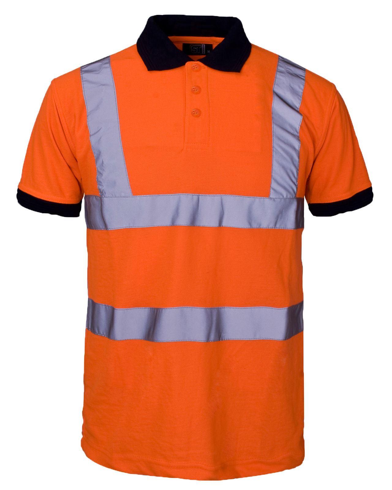 New hi visibility high viz short sleeve safety workwear for High visibility safety t shirts