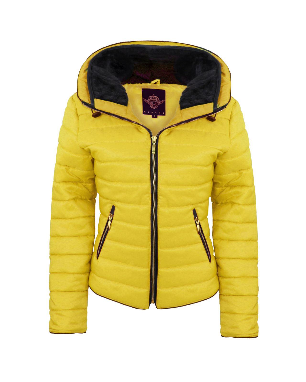 Yellow coats for women