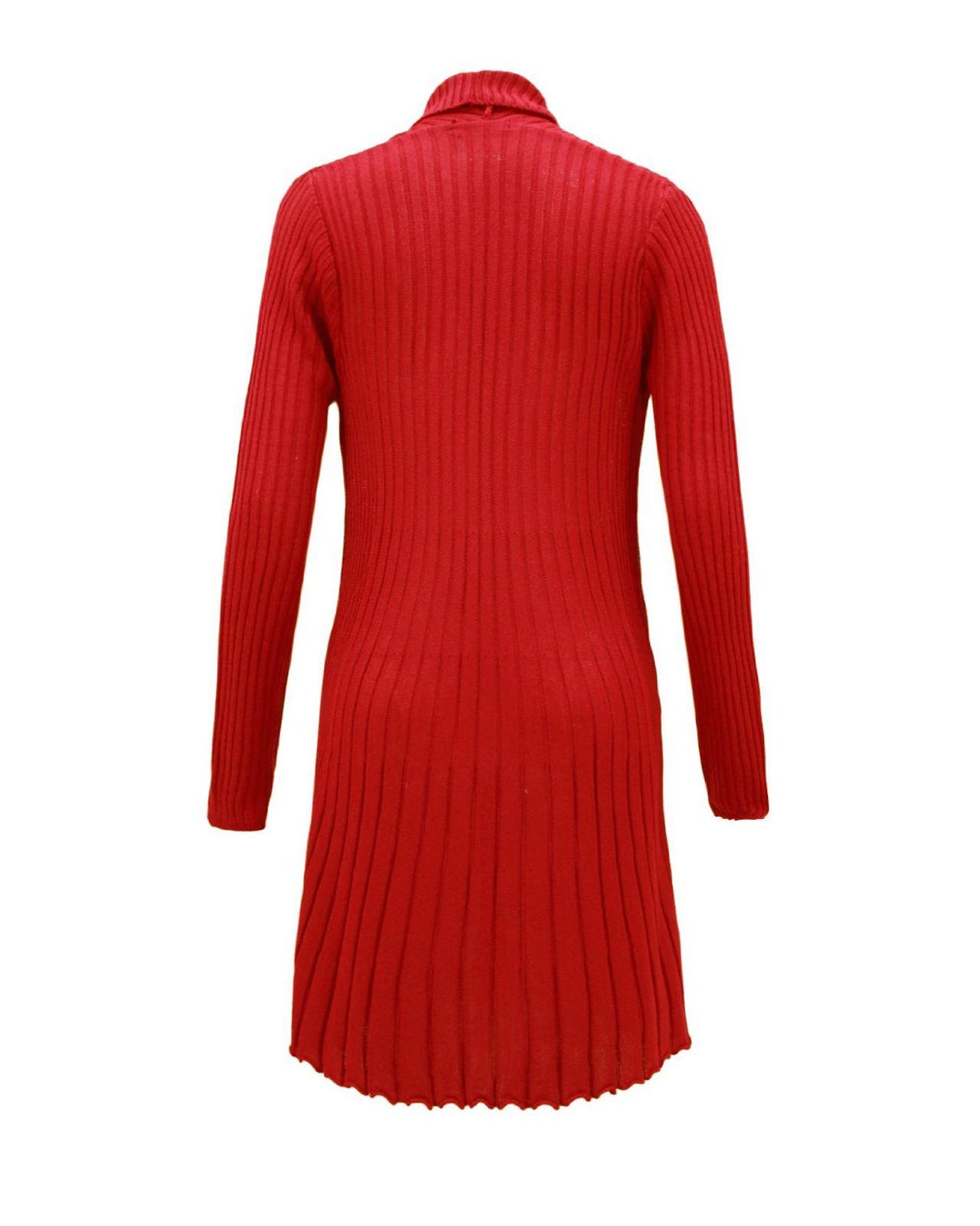 Knitting Wear Company : Ladies women knitted boyfriend crochet long cardigan
