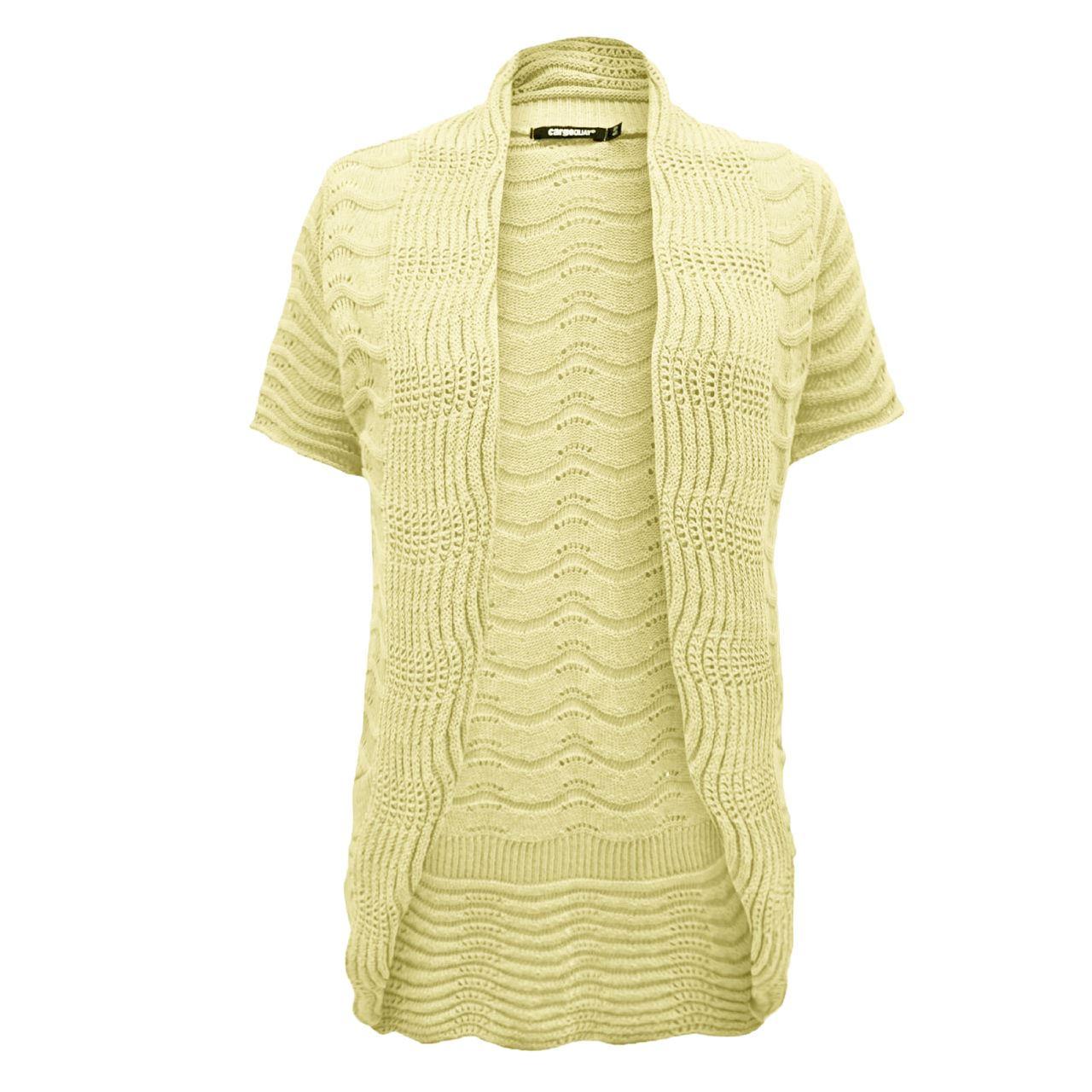 Knitting Pattern Ladies Short Sleeve Cardigan : NEW Ladies Womens Knitted Long Bolero Shrug Cardigan Short Sleeve Dress TOP 8...