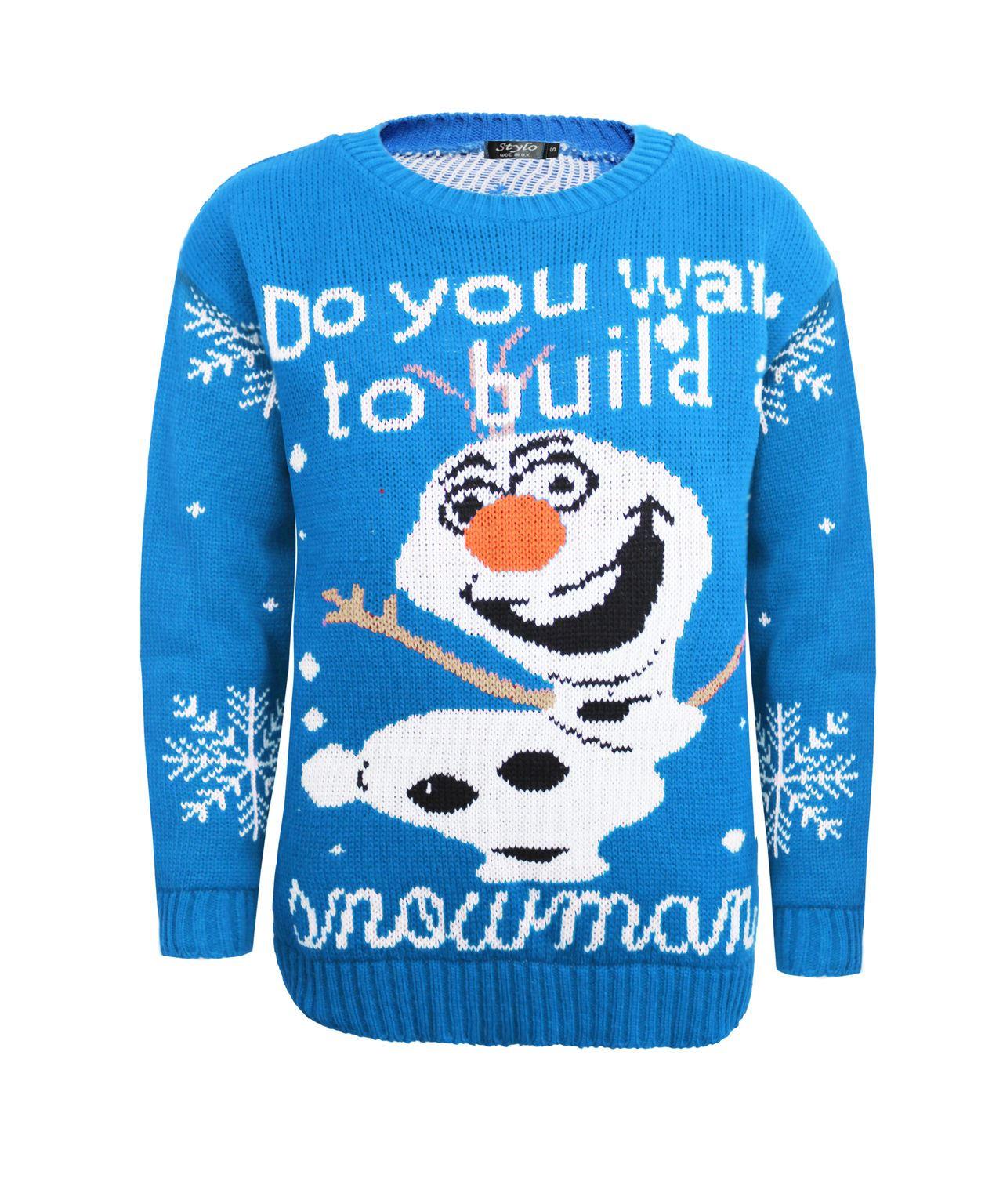 Minion Knitting Pattern Jumper : Kids Boy Girl Knitted Christmas Xmas Olaf Minion Chunky ...