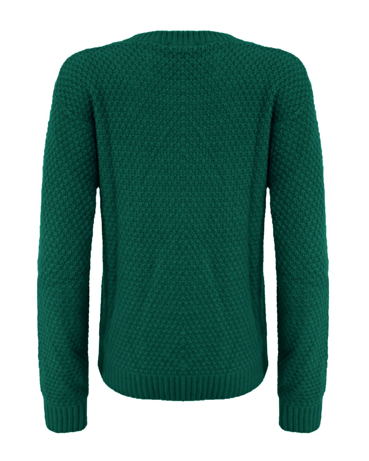 Ladies Women Knitted Long Sleeve Cable Knit Jumper Baggy Chunky Knit Sweater ...