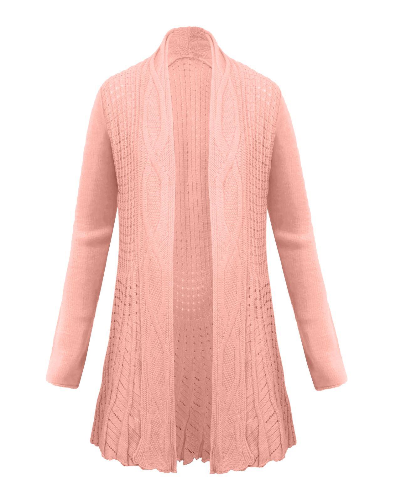 Knitting Cardigan For Ladies : New ladies women knitted boyfriend waterfall cardigan top