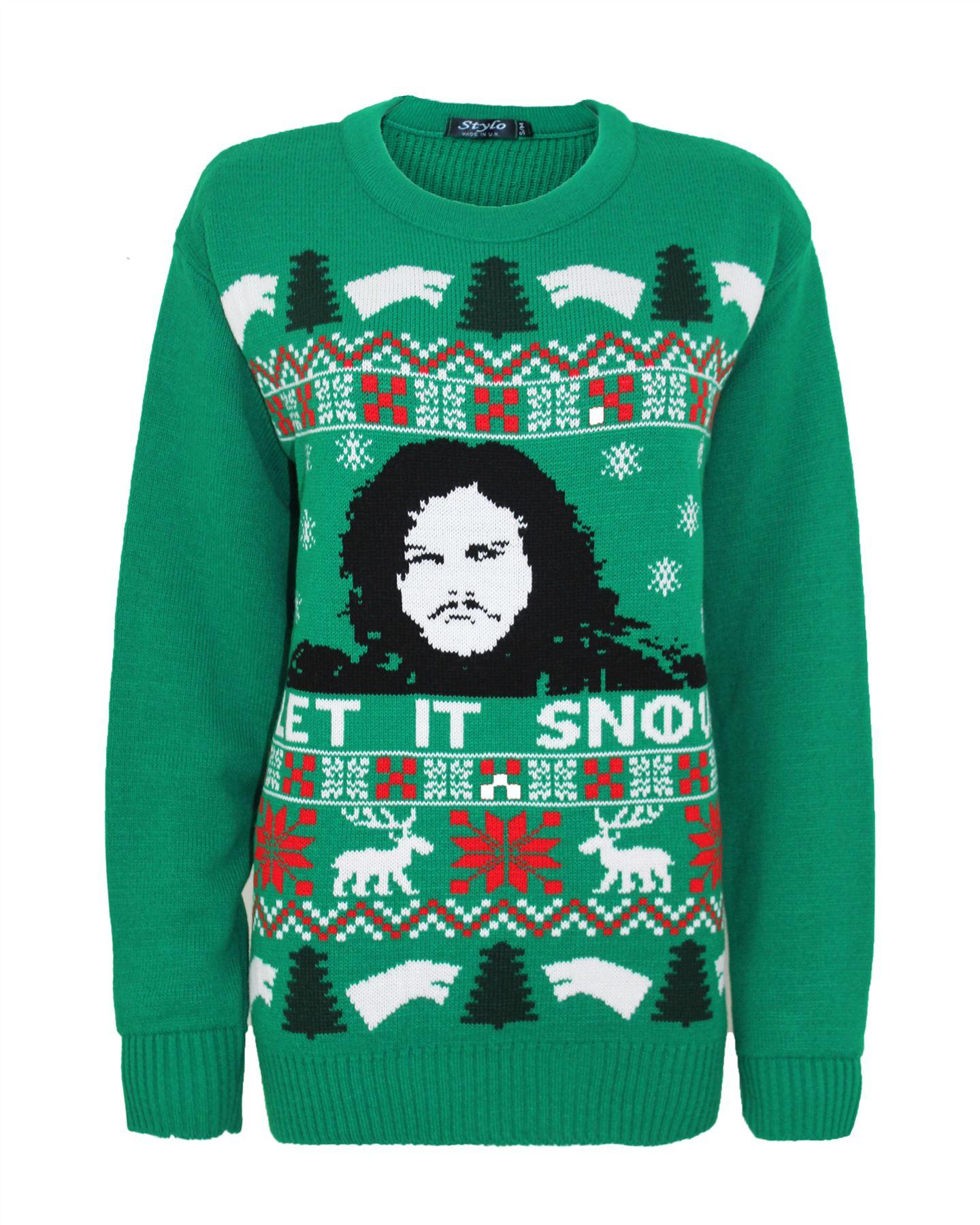 Game of thrones let it snow christmas santa xmas jumper sweater ebay