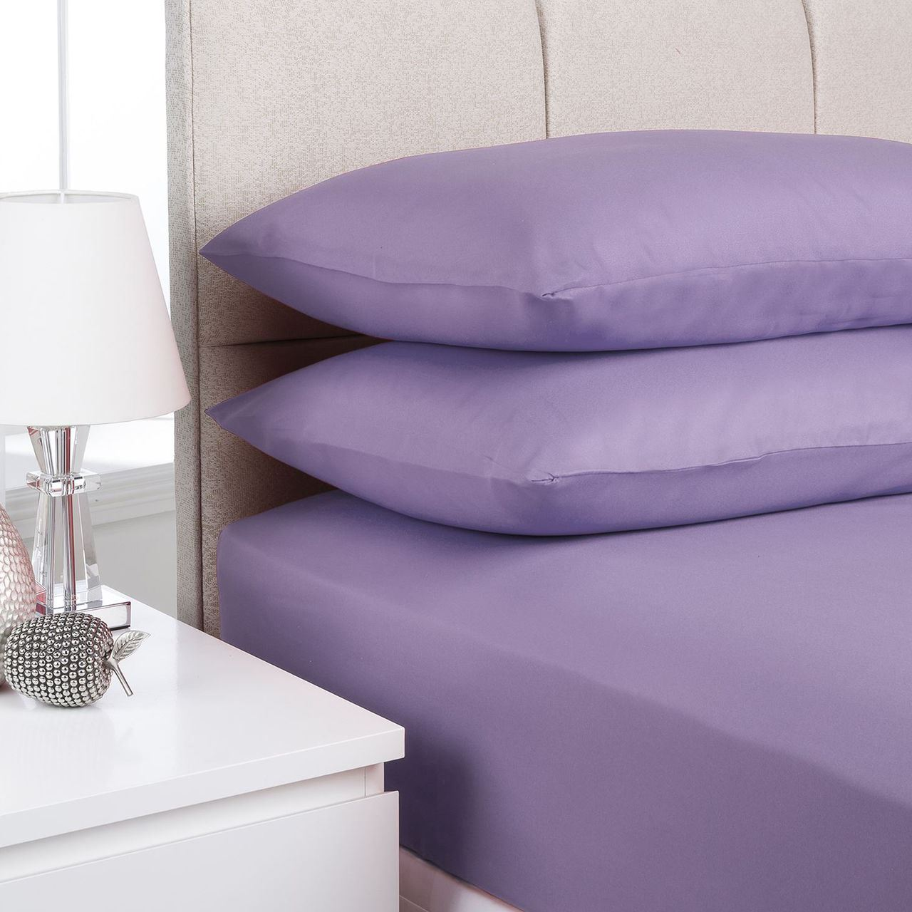 Plain Fitted Bed Sheets Dyed Colour Single Double King