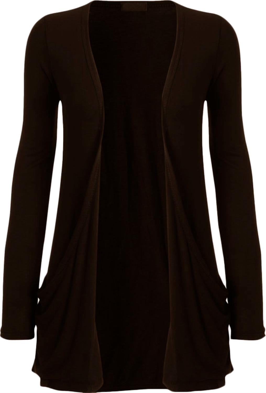 New Womens Plus Size Casual Jersey Pocket Long Sleeve Boyfriend ...