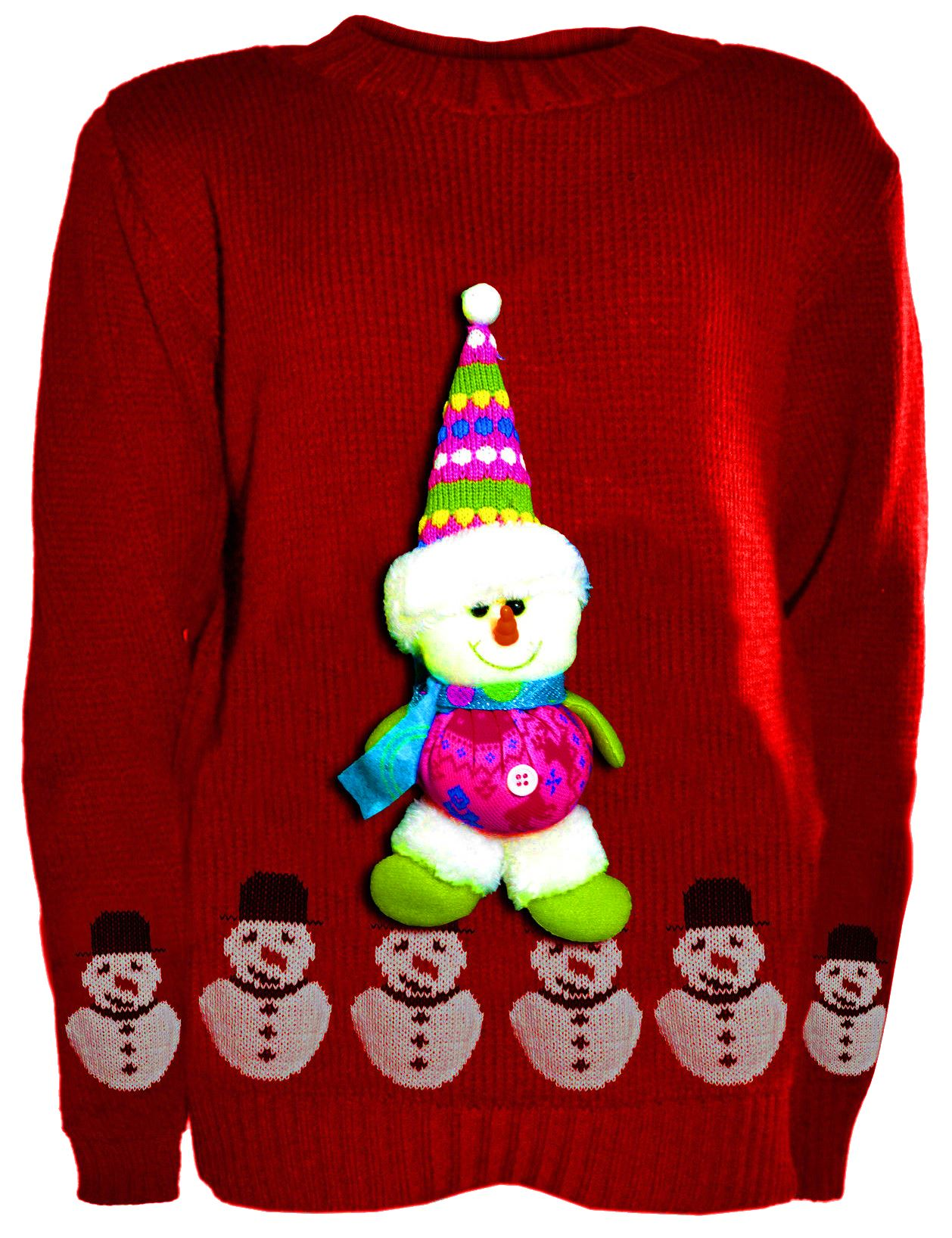Knitting Patterns For Novelty Christmas Jumpers : Girls Boys 3d Teddy Novelty Kids Christmas Unisex Winter Knitted Sweater Jumpers