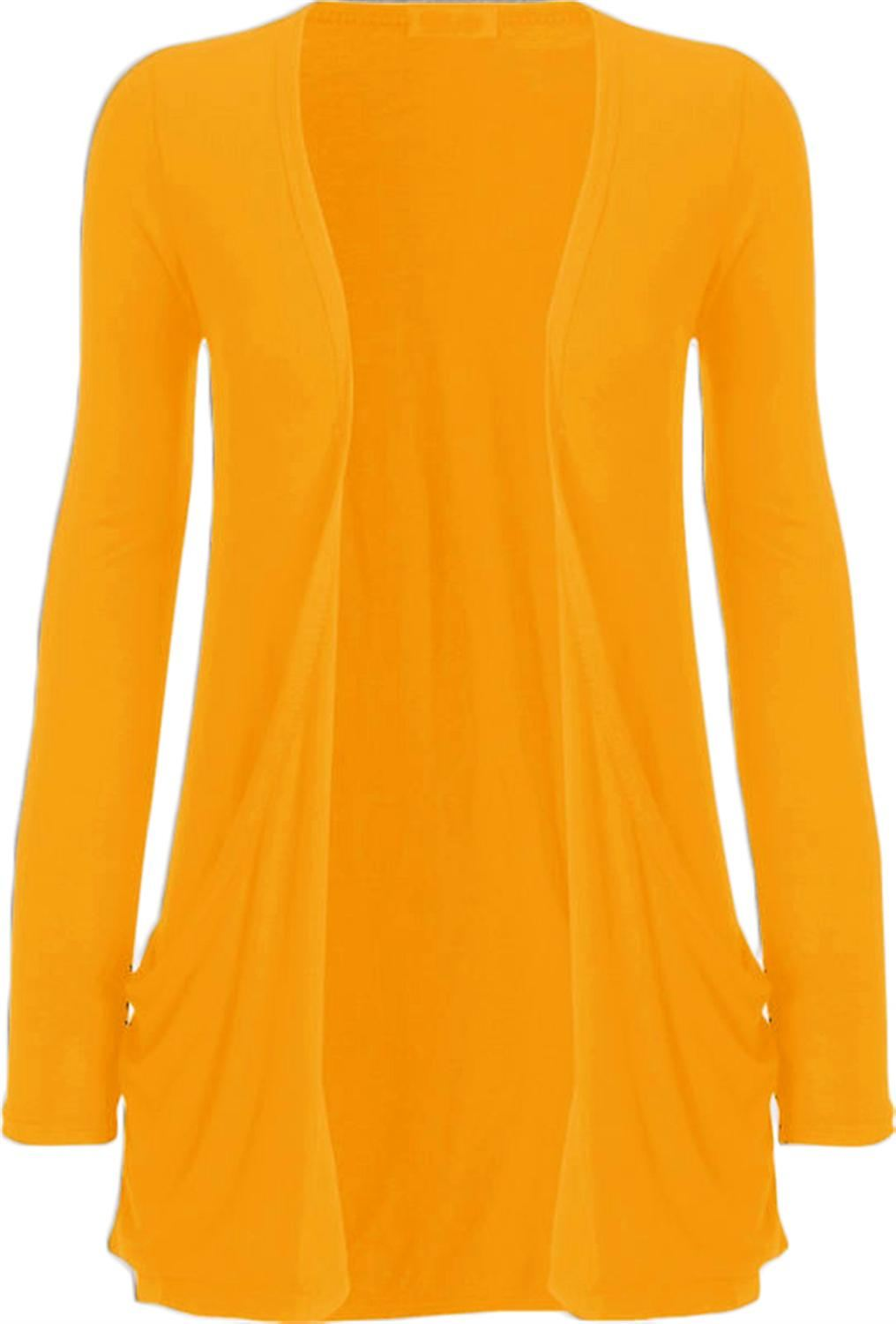 New Womens Plus Size Casual Jersey Pocket Long Sleeve Boyfriend ...