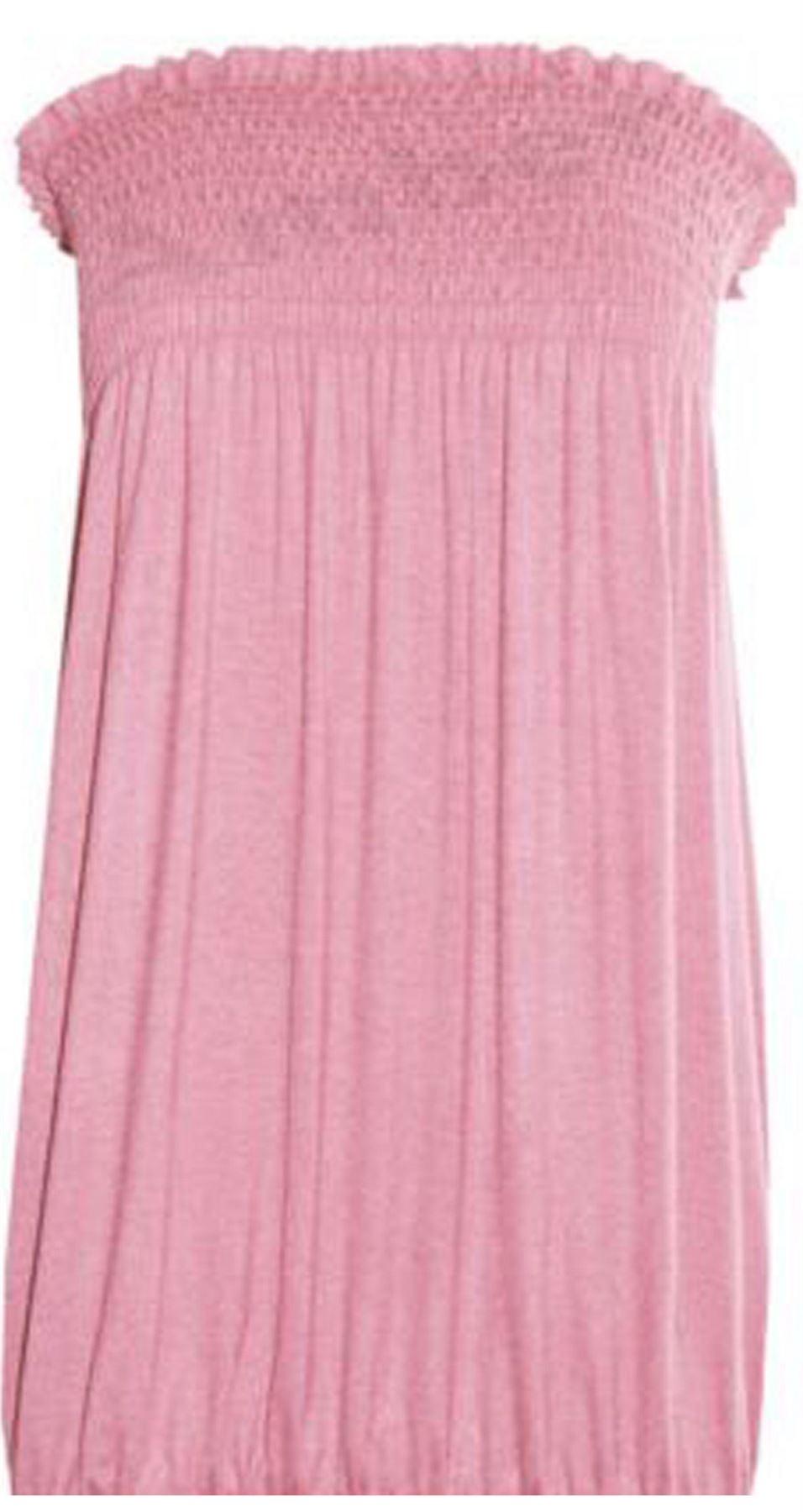 New-Ladies-Bandeau-Boob-Gathering-Tops-Boob-Tube-Beach-Wear-Tunics-8-26 thumbnail 10
