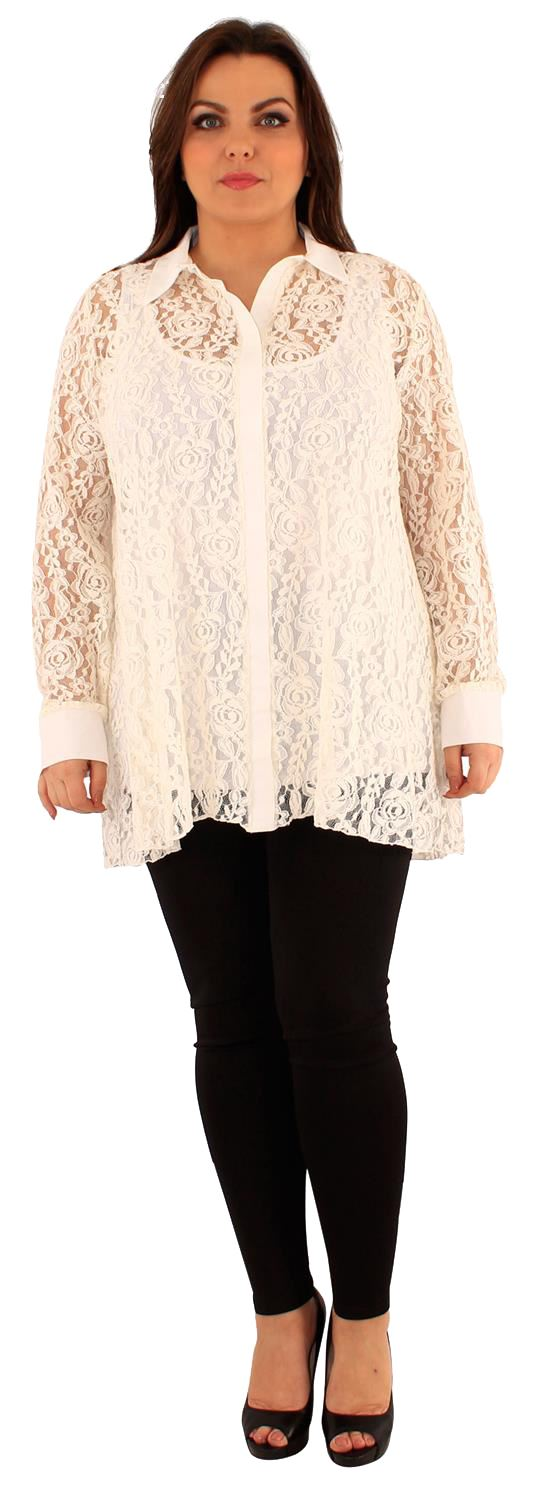 New womens floral lace long sleeve swing tunic shirt dress for Is a tunic a dress or a shirt