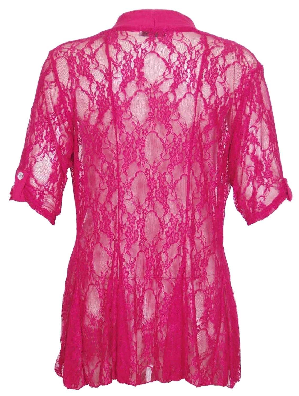 New Womens Lace Detail Boyfriend Cardigans 14-28