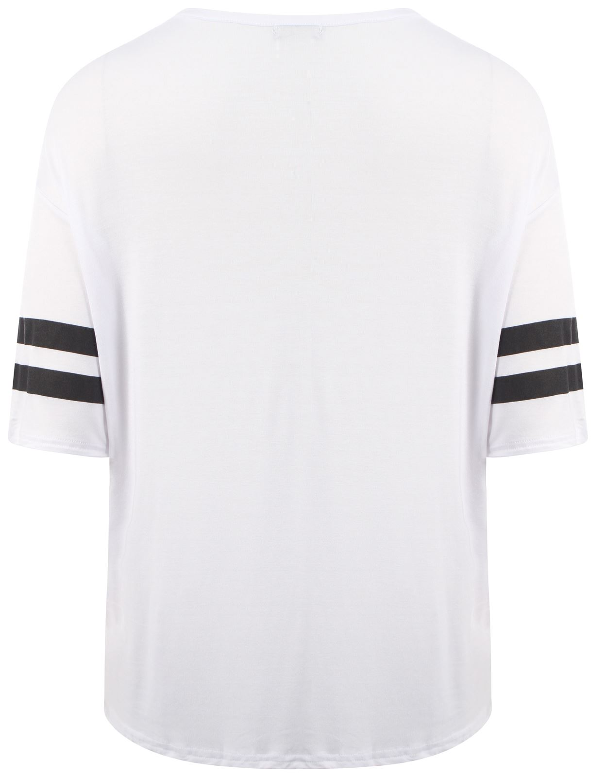 af0a910f4d5e New Womens Oversize Varsity 98 Number Baggy T Shirt Tops 12-26 | eBay