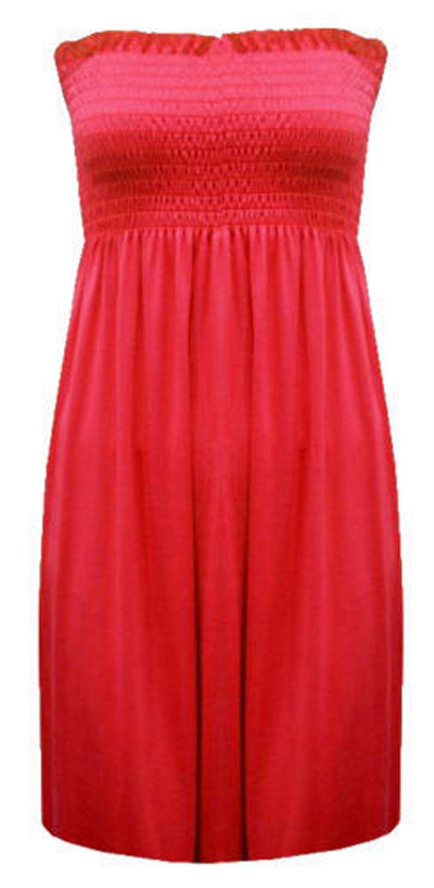 New-Ladies-Bandeau-Boob-Gathering-Tops-Boob-Tube-Beach-Wear-Tunics-8-26 thumbnail 60