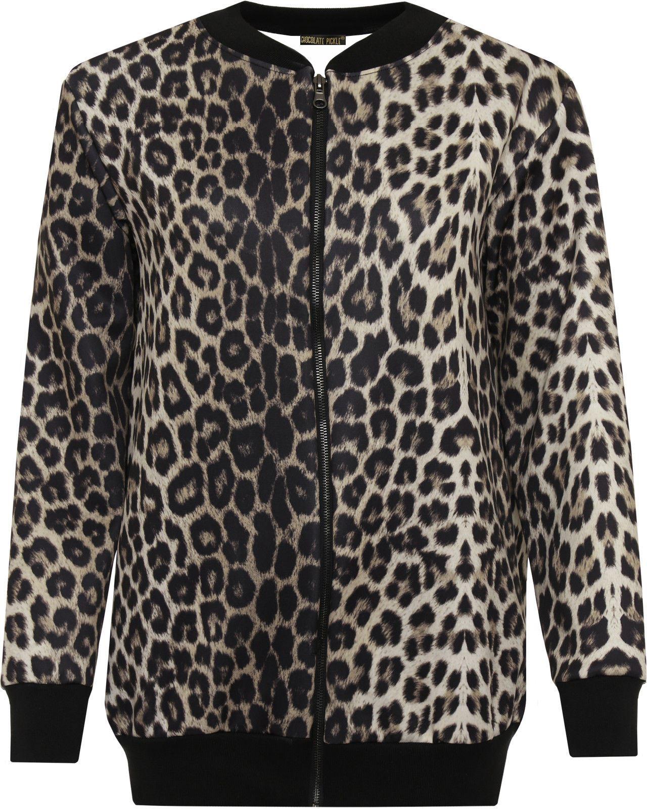 Leopard print coats for women