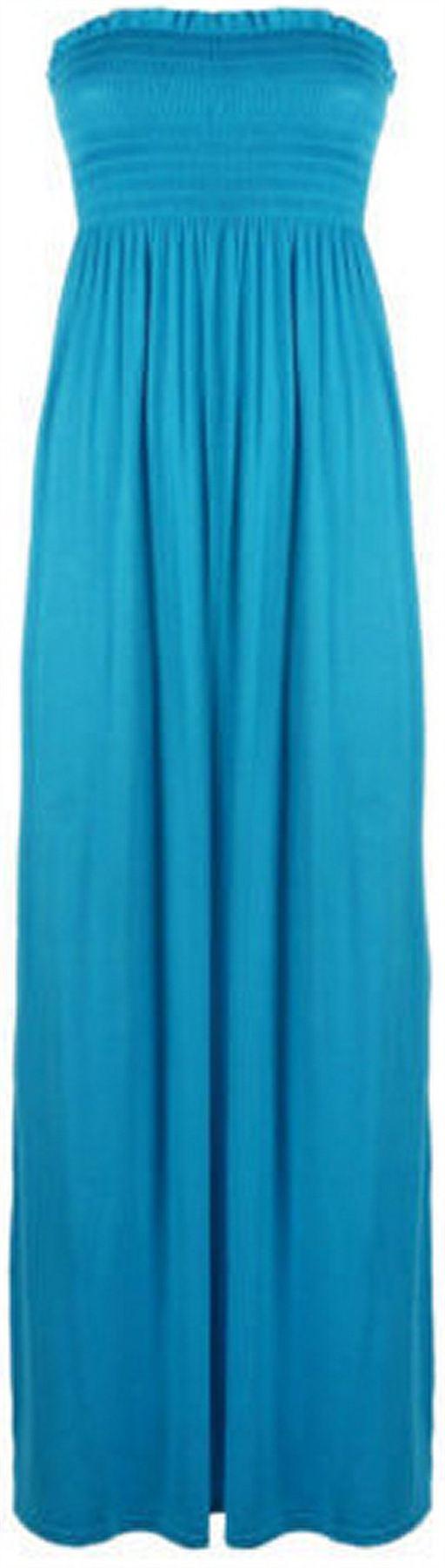 Womens-Plus-Size-Boob-Tube-Maxi-Stretch-Sheering-Summer-Beach-Maxi-8-26