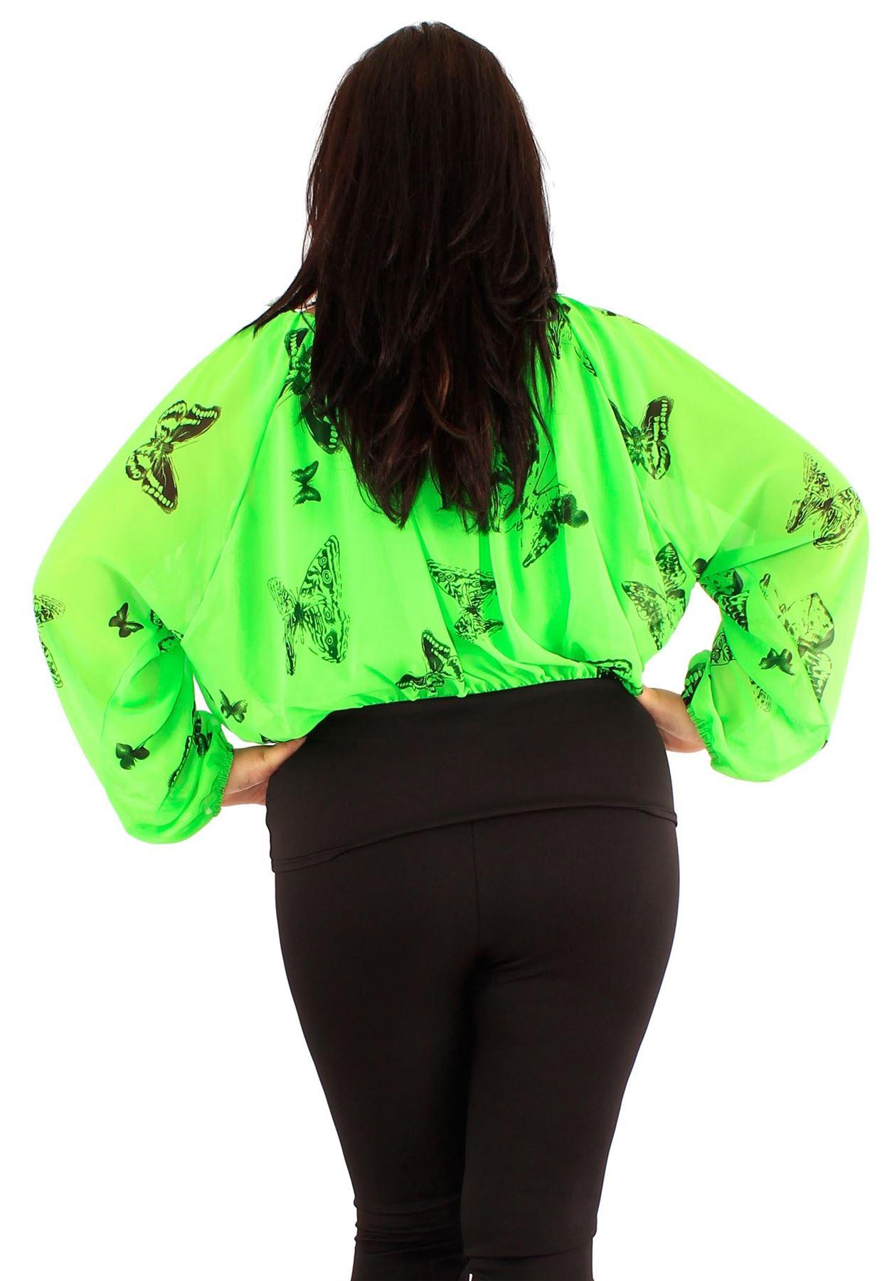 Womens Plus Size Plain Chiffon Long Sleeve Off Shoulder Gypsy Corset Tops 14-20