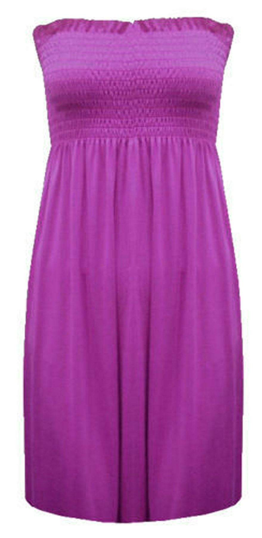 New-Ladies-Bandeau-Boob-Gathering-Tops-Boob-Tube-Beach-Wear-Tunics-8-26 thumbnail 55