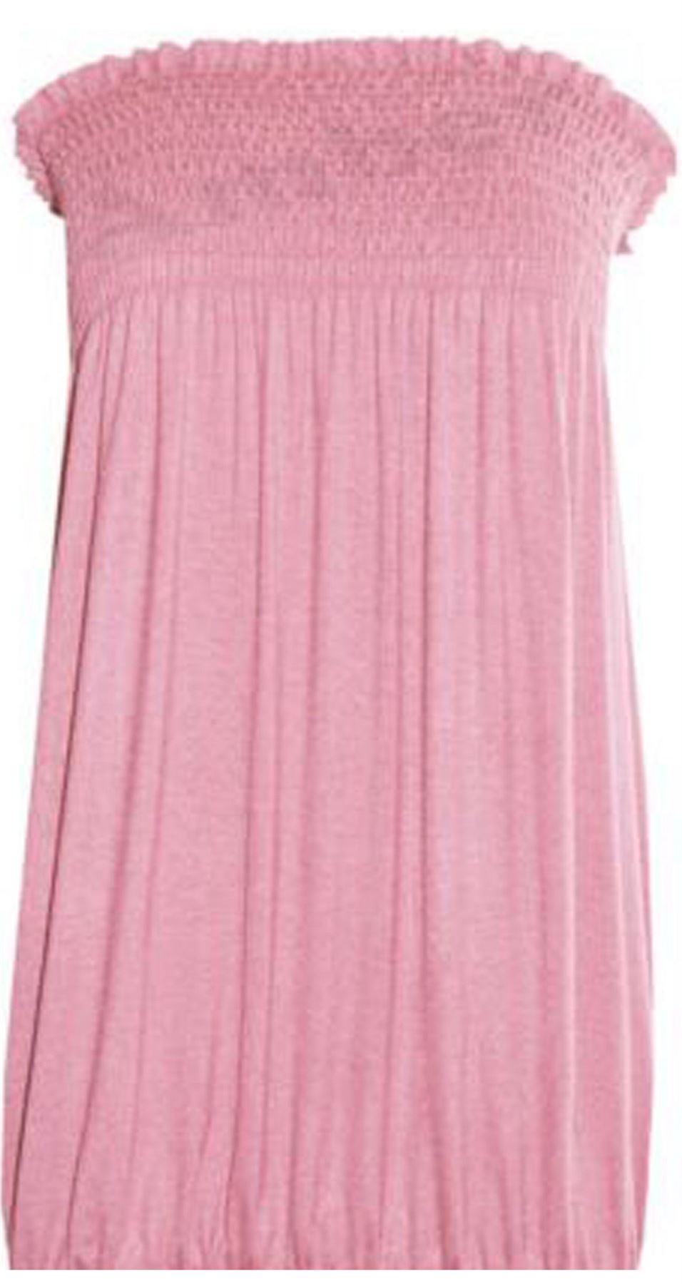 New-Ladies-Bandeau-Boob-Gathering-Tops-Boob-Tube-Beach-Wear-Tunics-8-26 thumbnail 11