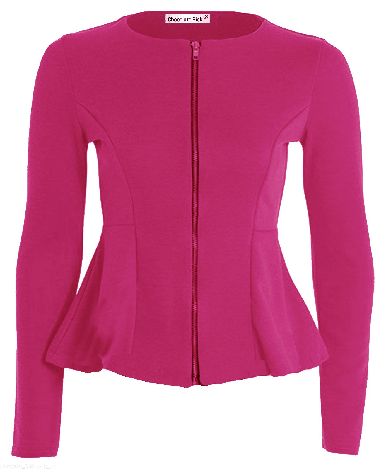 New Ladies Plus size Peplum Blazer Scuba Long Sleeve Skater ...
