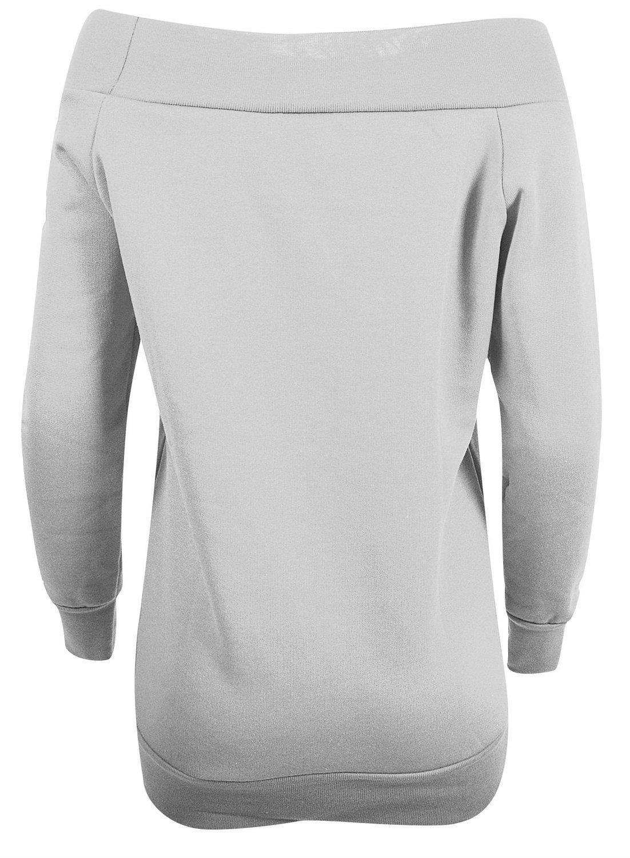 New-Ladies-Off-Shoulder-long-Sleeve-Jumpers-Knitwear-Tops-8-14