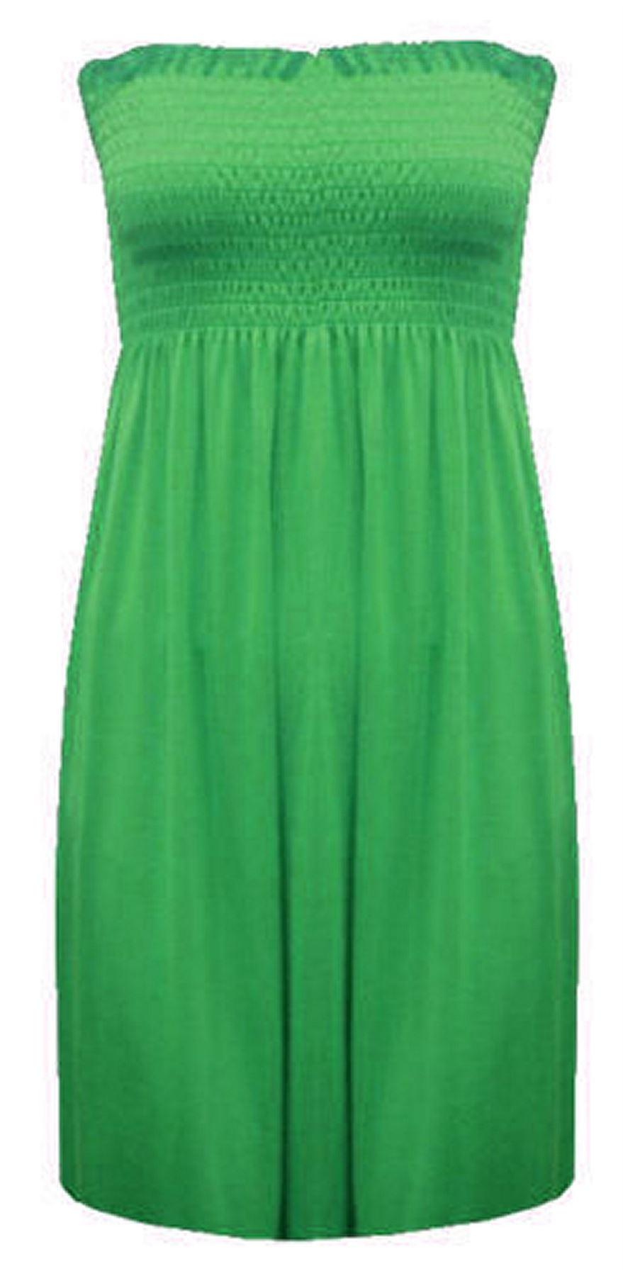 New-Ladies-Bandeau-Boob-Gathering-Tops-Boob-Tube-Beach-Wear-Tunics-8-26 thumbnail 34