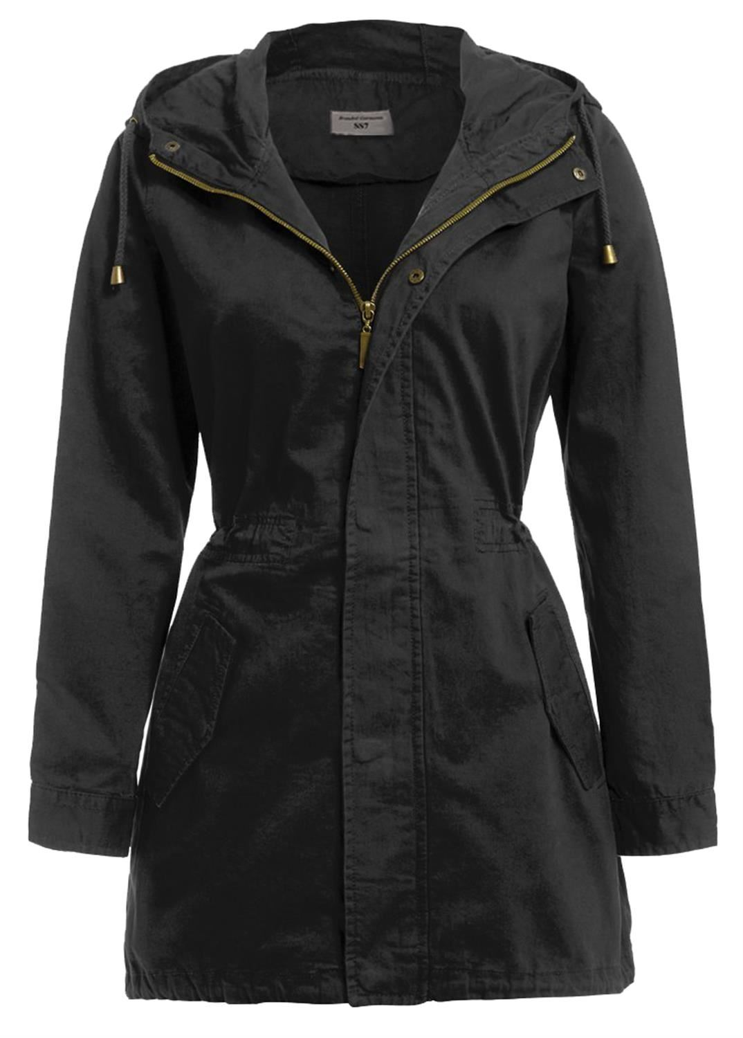 New Womens Canvas MAC Jacket Cotton Twill Hooded Fish Tail Parka ...