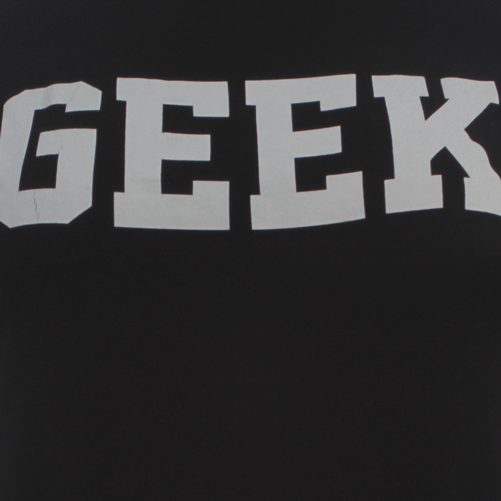 New Ladies Plus Size Geek Print Cap Sleeve T-Shirts 16-26