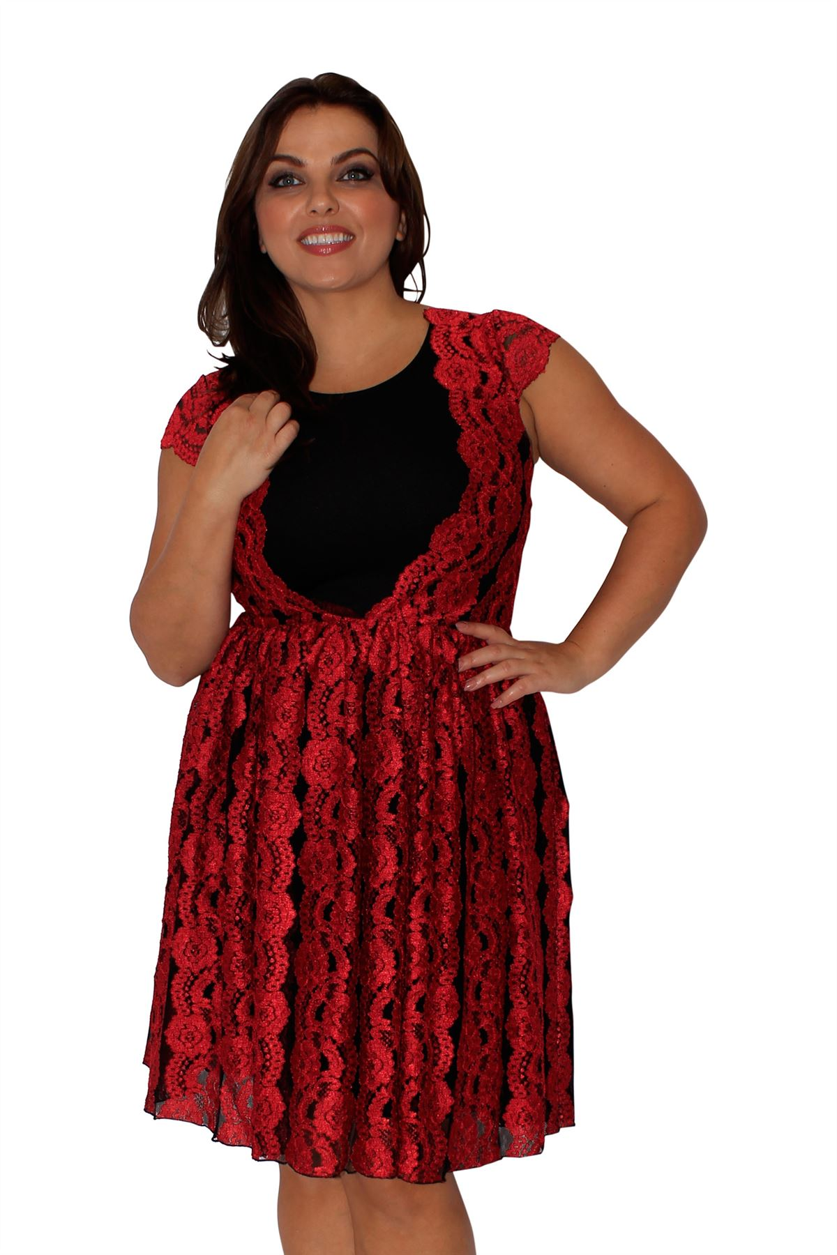 Red lace dress size 24