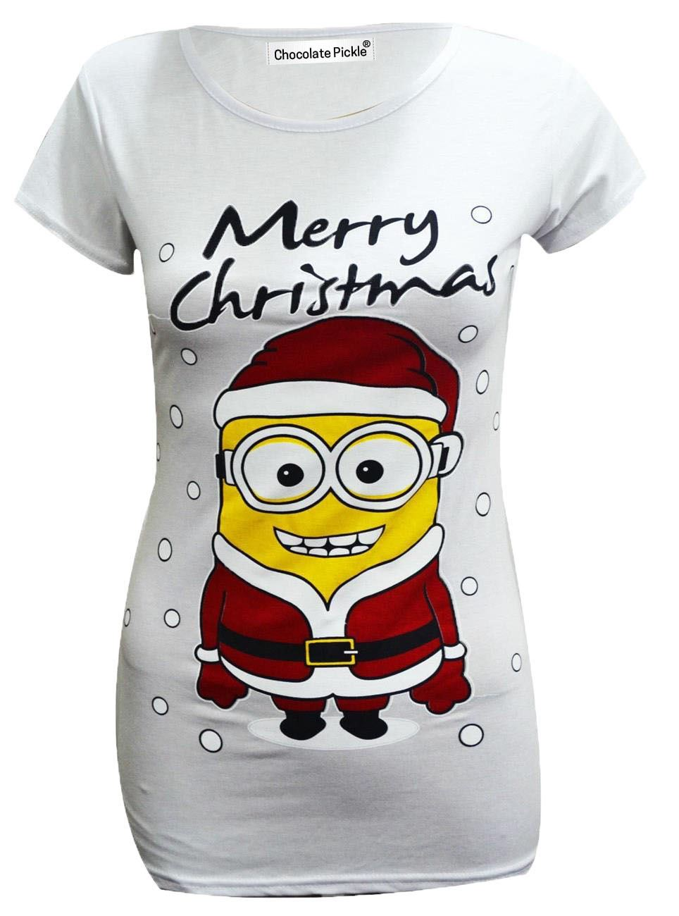 New Womens Olaf Minion Christmas Frozen X-Mass Ladies Tee Shirts ...