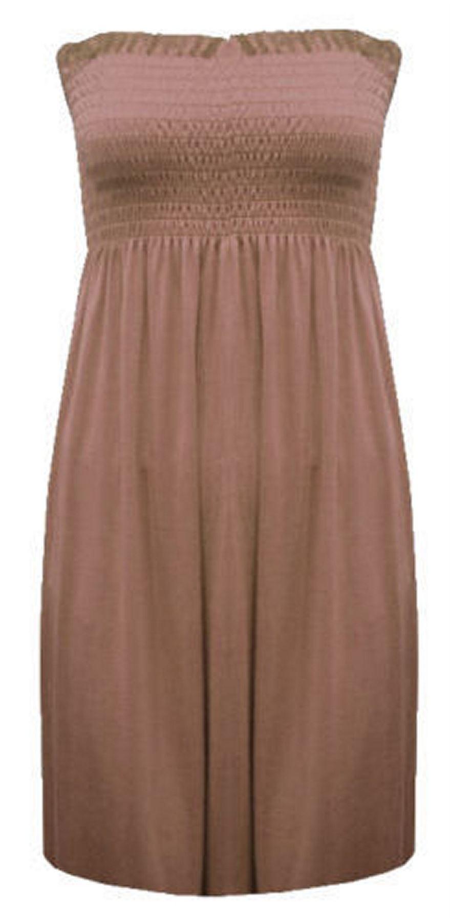 New-Ladies-Bandeau-Boob-Gathering-Tops-Boob-Tube-Beach-Wear-Tunics-8-26 thumbnail 44