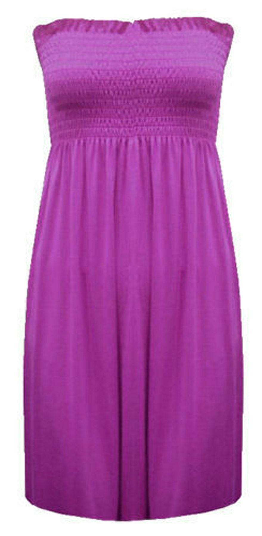 New-Ladies-Bandeau-Boob-Gathering-Tops-Boob-Tube-Beach-Wear-Tunics-8-26 thumbnail 56