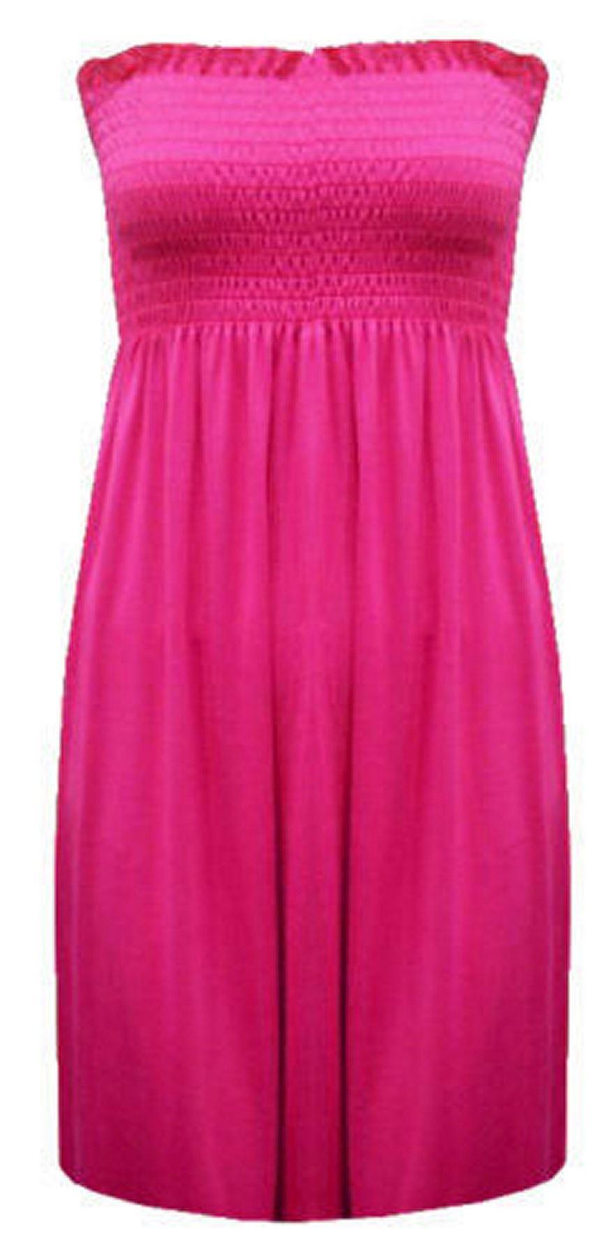 New-Ladies-Bandeau-Boob-Gathering-Tops-Boob-Tube-Beach-Wear-Tunics-8-26 thumbnail 20