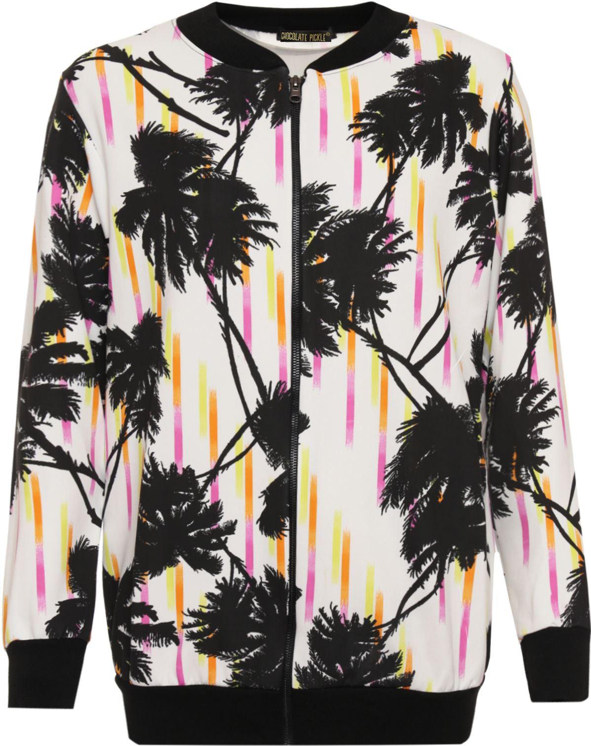 New Womens Leopard Print Full Zip Waist Band Summer Bomber Jacket 14-28