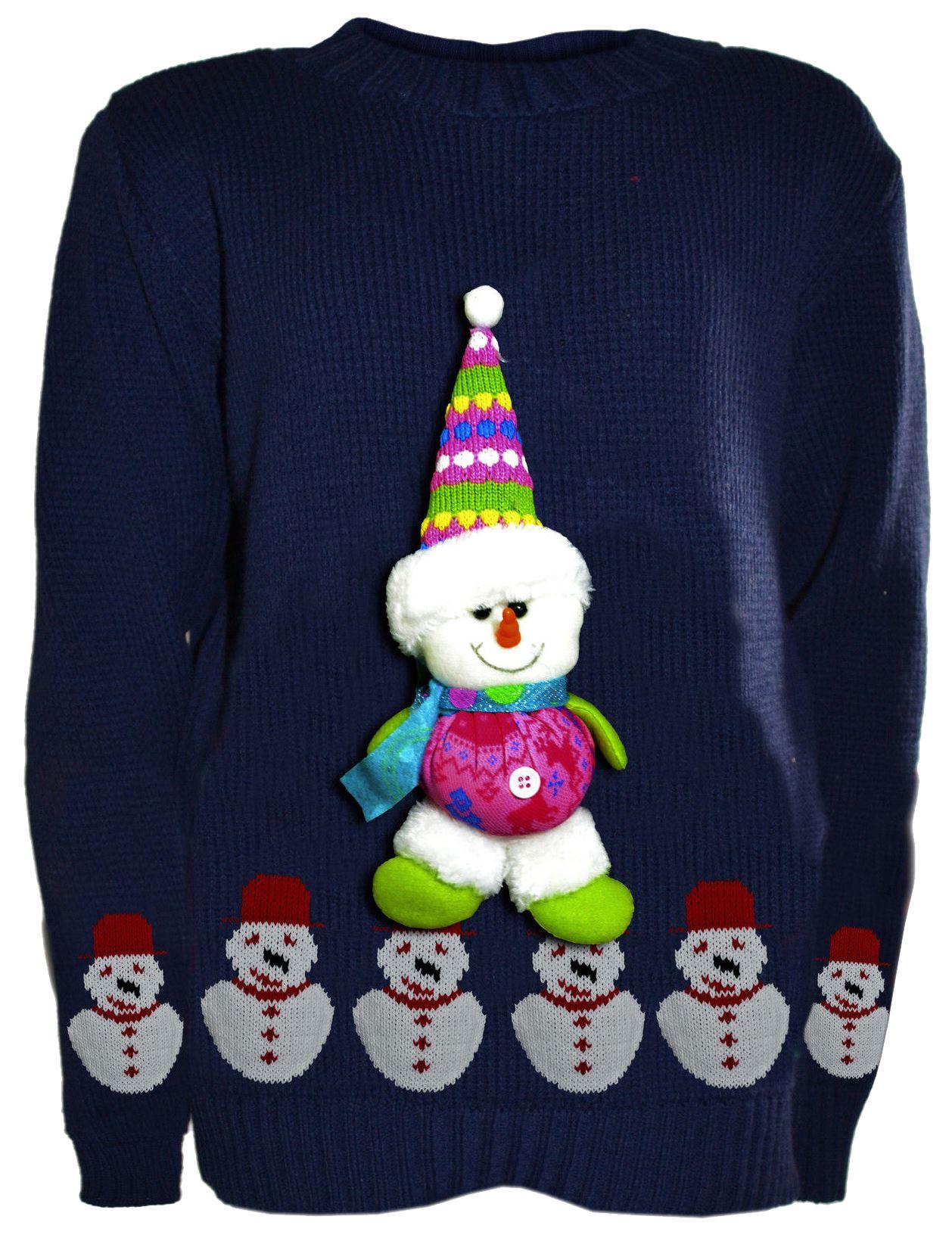 Girls Boys 3d Teddy Novelty Kids Christmas Unisex Winter Knitted Sweater Jump...