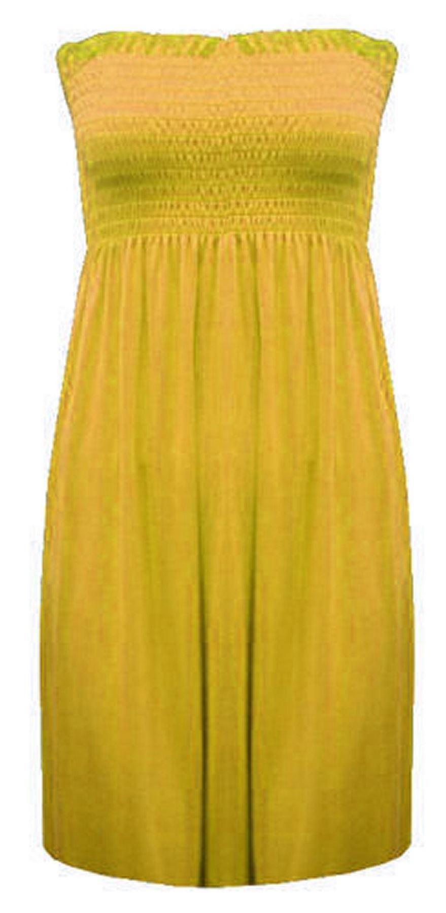 New-Ladies-Bandeau-Boob-Gathering-Tops-Boob-Tube-Beach-Wear-Tunics-8-26 thumbnail 90