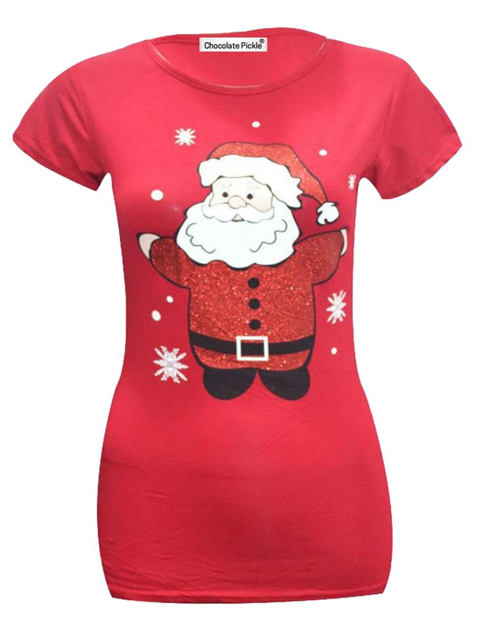 New Womens Olaf Rudolph Snowman Santa Minion Christmas T-Shirt ...