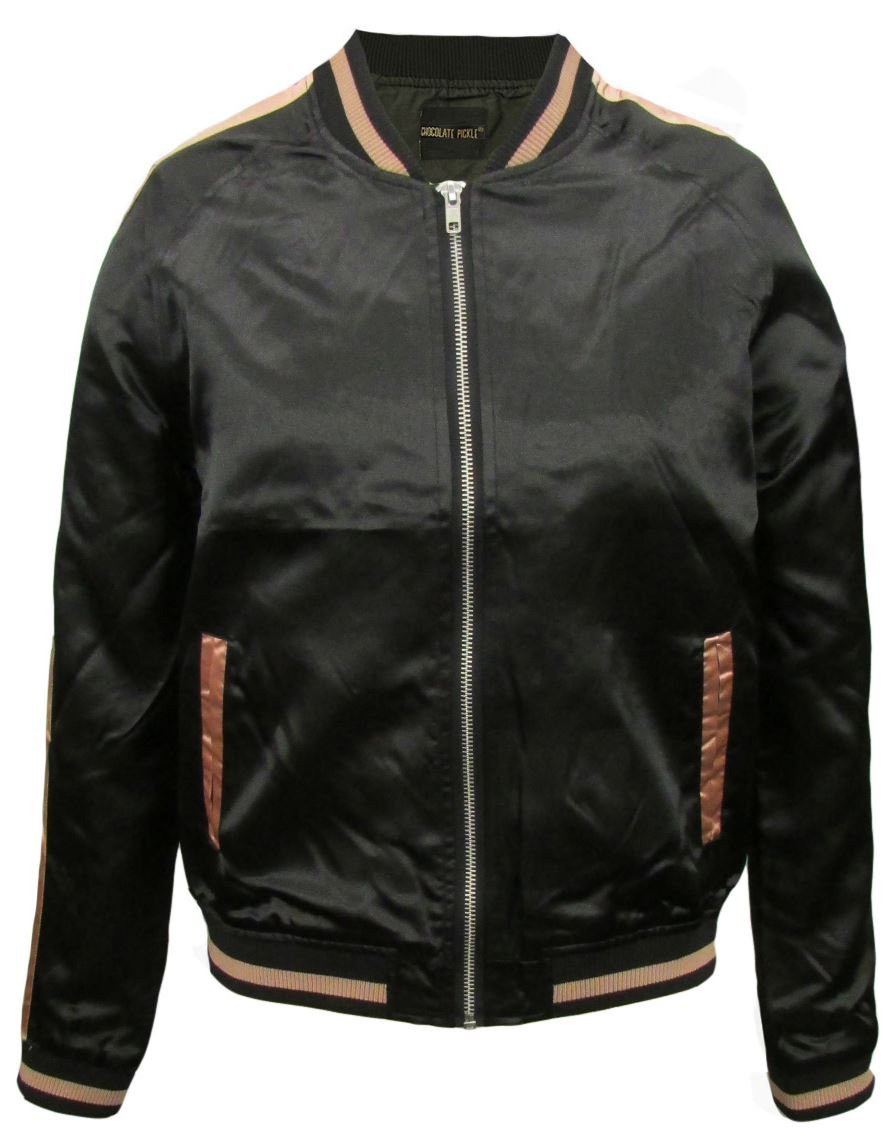 New ladies varsity embroidery design short bomber jacket
