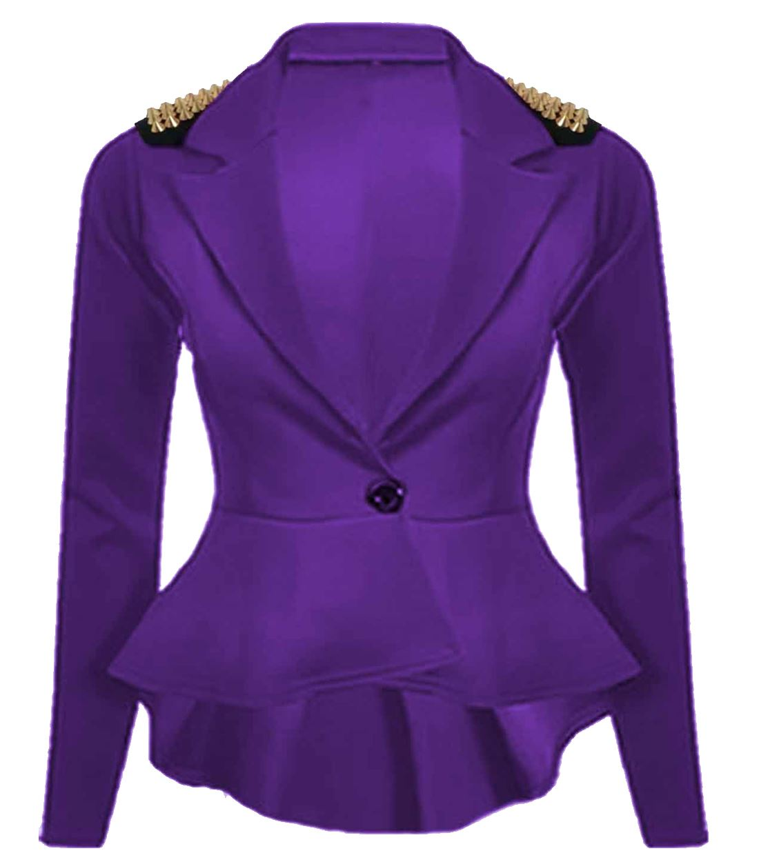 new womens plus size gold studded peplum blazer jacket womens