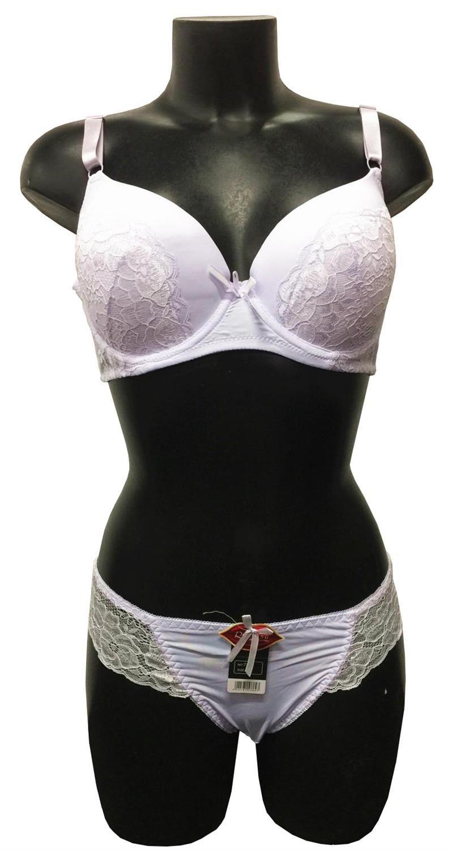 Womens-Plunge-Padded-Bra-Panties-Set-Lace-Design-Lingerie-D-Cup-Size-UK-30D-36D