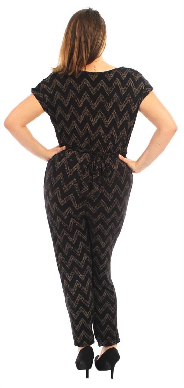 New Ladies Plus Size Cowl Neck Cap Sleeve Printed Jumpsuits Dress 14-28