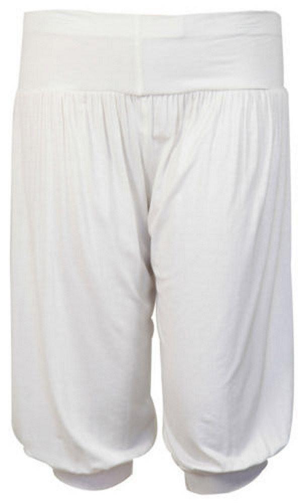 New Ladies Plus Size Cropped Hareem Trousers Short Harem Pants 12-26