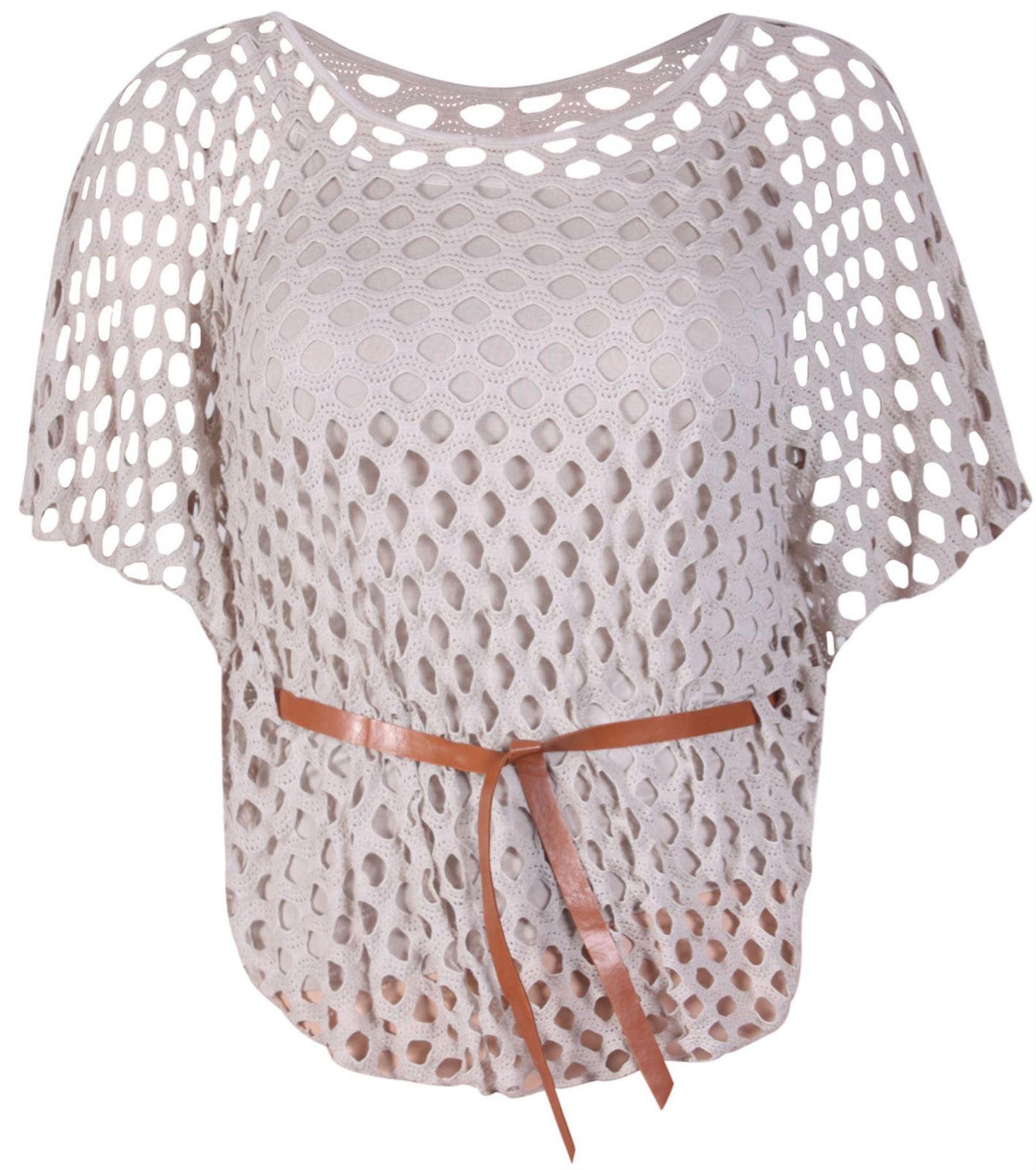 Crochet Batwing Top Free Pattern : Womens Crochet Cami Sole Inner Vest Mesh Plus Size Belted ...